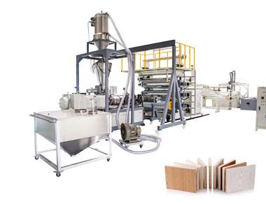 Línea de producción de láminas de tablero de plástico
