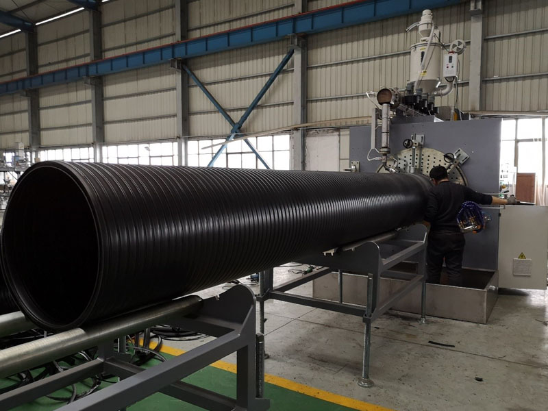 HDPE hollow winding pipe Production line