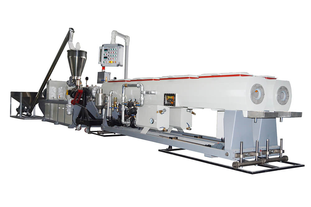 pvc two cavity pipe extrusion production line