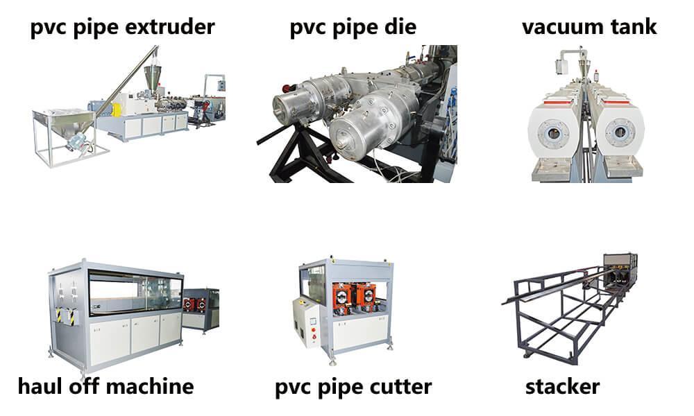 pvc pipe extrusion machine 6 main parts