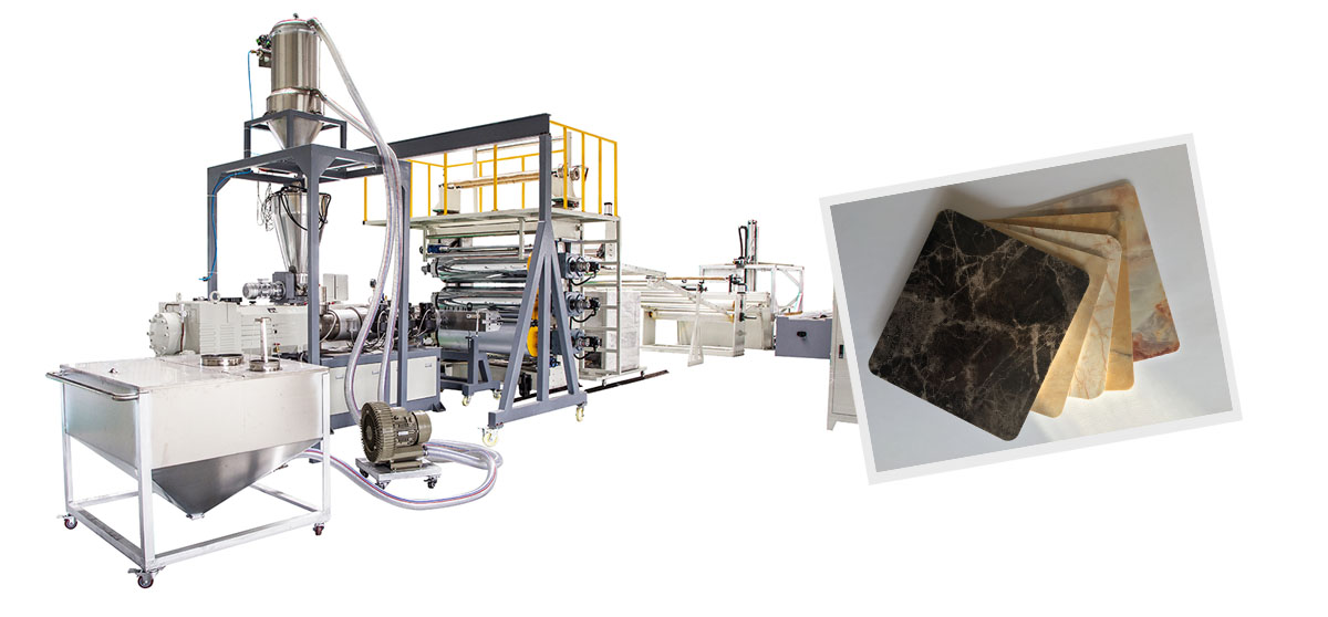 PVC WPC Imitation Marble Sheet Extrusion Line