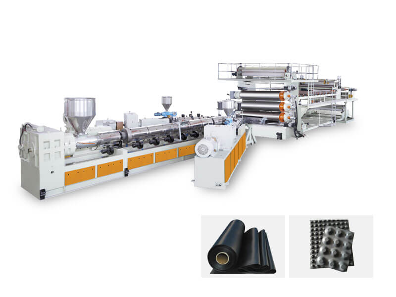 PE-TPO-EVA-PVC Waterproof Geomembrane Sheet Production