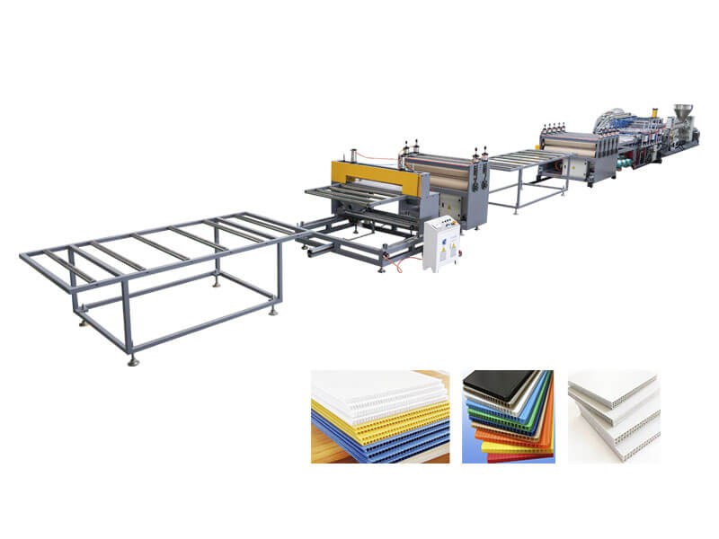 PP Corrugated Hollow Sheet Production Line