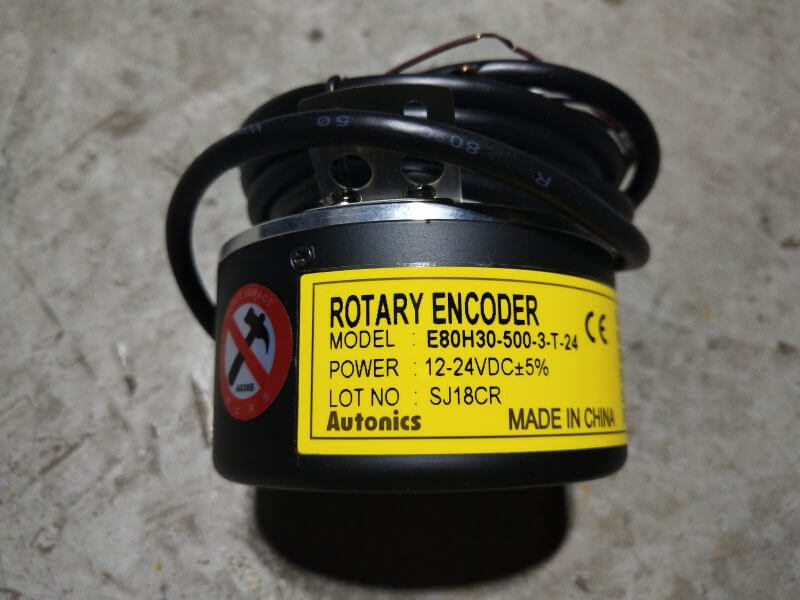 rotary encoder for setting cutting length