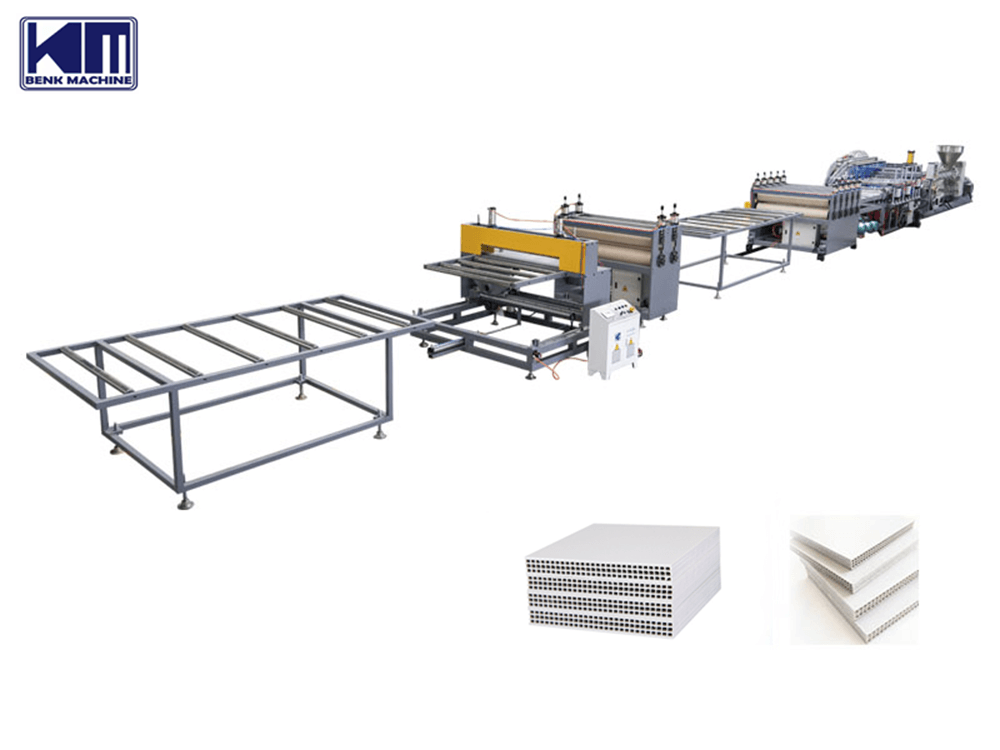 pp hollow construction formwork production line