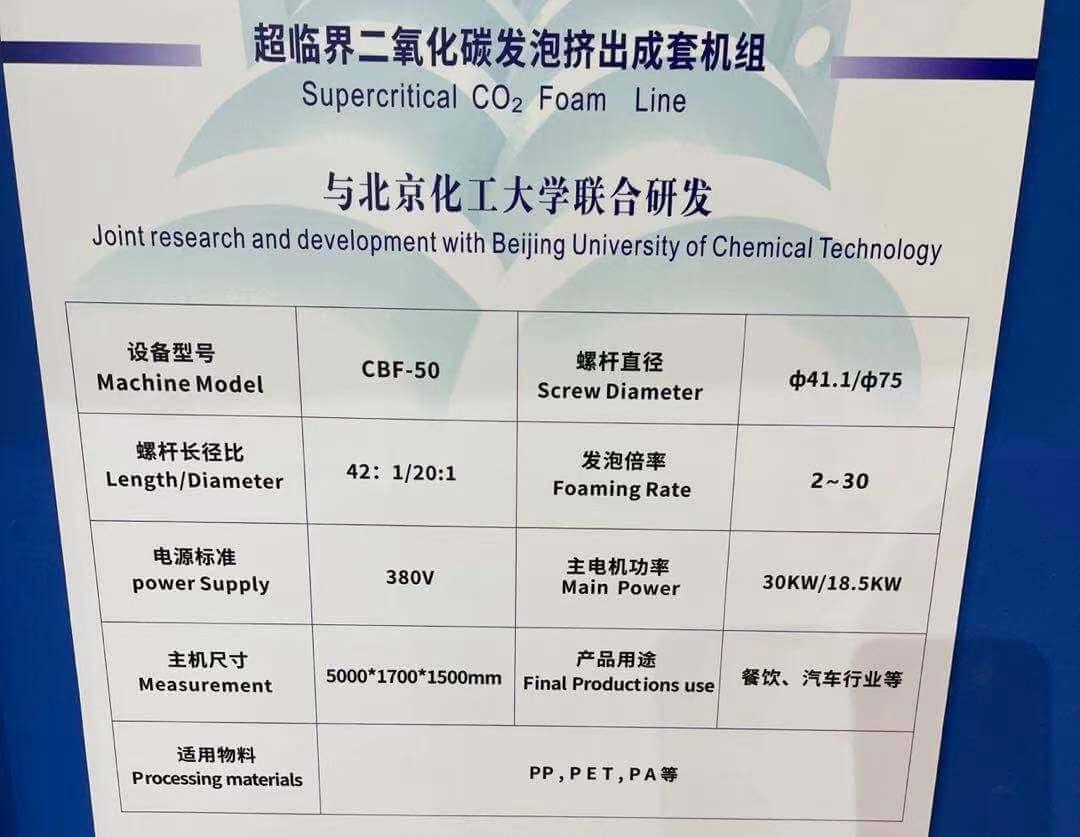 PET Supercritical CO2 Foaming Line